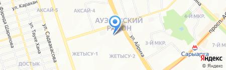 Алия на карте Алматы
