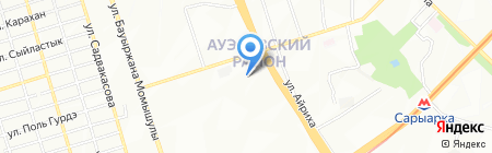 Алма-Ата на карте Алматы