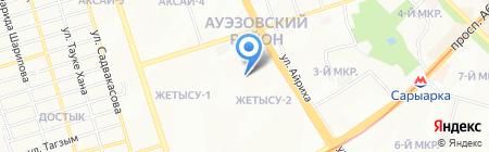 Серы-Тас на карте Алматы