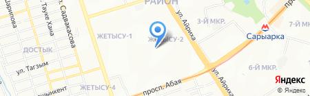 Жастар Уйи на карте Алматы