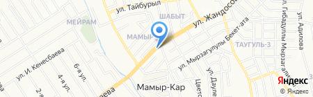АЗС Мамыр на карте Алматы
