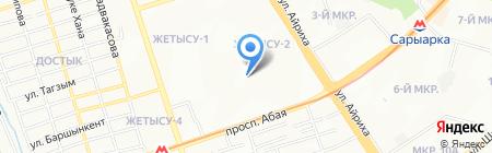 Тая на карте Алматы