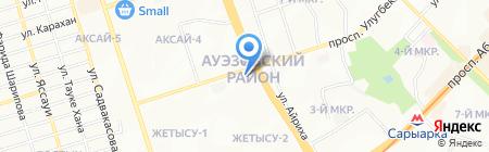 Пункт замены масел на карте Алматы