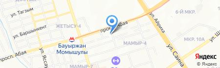 Ният на карте Алматы