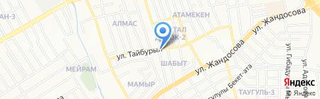 Камиля на карте Алматы