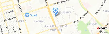 Автостоянка на ул. 1-й микрорайон на карте Алматы