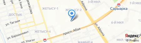 Автостоянка №14 на карте Алматы