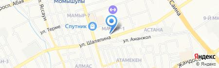 Оптовка на карте Алматы