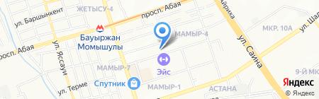 Балапан на карте Алматы