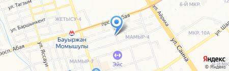 Комбинат химико-пищевой ароматики на карте Алматы