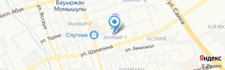 Мамыр на карте Алматы