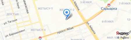 Габдель Мажит на карте Алматы