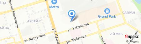 Алматы-Жихаз на карте Алматы