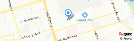 Семиречье на карте Алматы