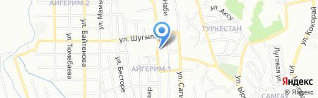 Орман на карте Алматы