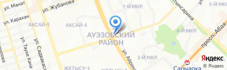 Рахат продовольственный магазин на карте Алматы