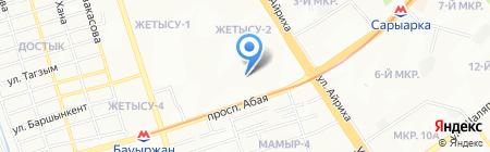 Бектур на карте Алматы