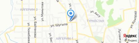 Мясной магазин на ул. Садовая на карте Алматы