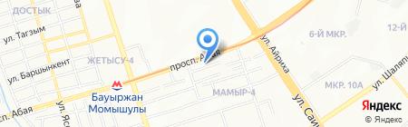 Хан-Сарай на карте Алматы