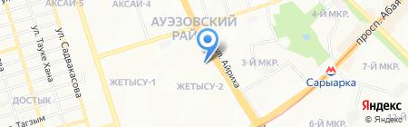 Пекин на карте Алматы
