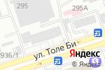Схема проезда до компании Геотекс в Алматы