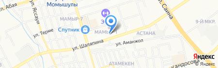 Гуманитарный университет транспорта и права им. Д.А. Кунаева на карте Алматы