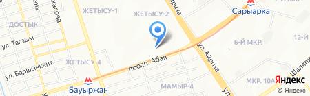 Мастерская по ремонту одежды на ул. Жетысу 2-й микрорайон на карте Алматы