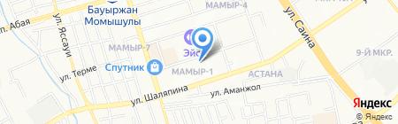 Лицей №173 на карте Алматы