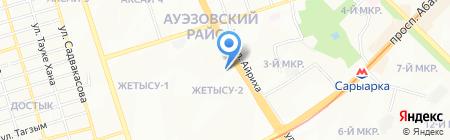 Мастерская по ремонту обуви на ул. Жетысу 2-й микрорайон на карте Алматы