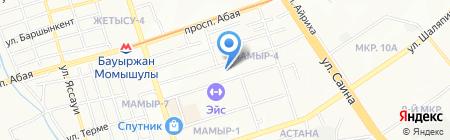 Телец на карте Алматы