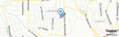 Мастерская по ремонту и пошиву одежды на ул. Садовая на карте Алматы