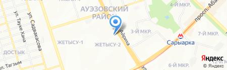 Рустам продуктовый магазин на карте Алматы