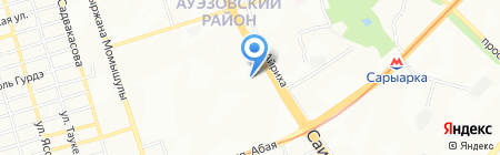 Санжар на карте Алматы
