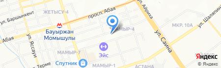 Медвежонок на карте Алматы