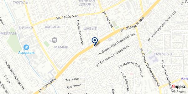 Рада на карте Алматы