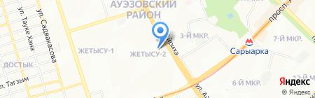 Check на карте Алматы
