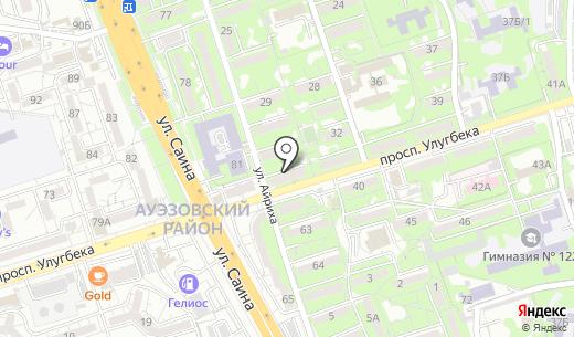 Zere. Схема проезда в Алматы
