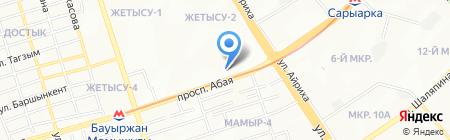 Нотариус Бекбатырова Ф.З. на карте Алматы