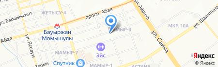 E & K на карте Алматы