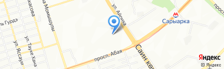 Синапс КМ на карте Алматы