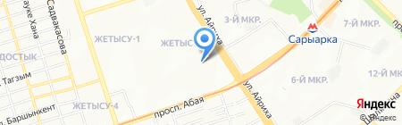 Белочка на карте Алматы