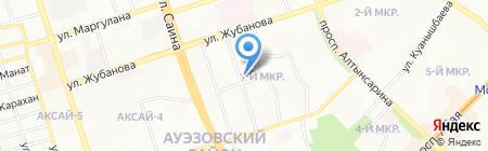 Магазин хозяйственных товаров на ул. 1-й микрорайон на карте Алматы