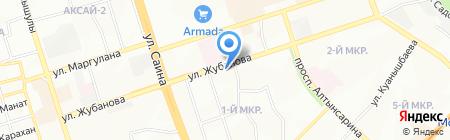Асем на карте Алматы