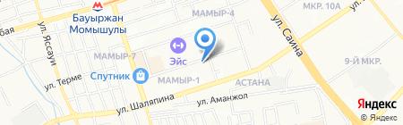 Сандж на карте Алматы