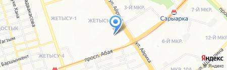 Жетысу продуктовый магазин на карте Алматы
