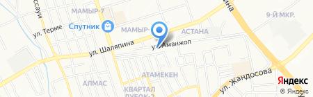 Продовольственный магазин на Пригородной на карте Алматы