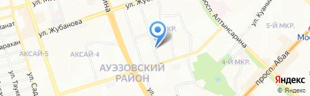 СТО на ул. 1-й микрорайон на карте Алматы