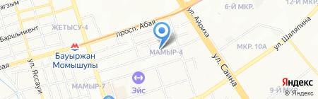Богатый папа на карте Алматы