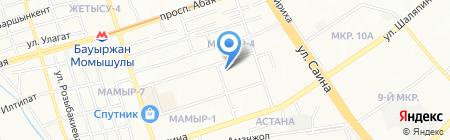 Меден на карте Алматы