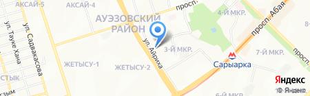 Мереке на карте Алматы
